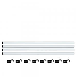 Homebox Fixture Poles Set 22mm 4Stk Stangen mit 8Stk Befestigungswinkel