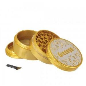 Greengo Alu-Grinder, 4-teilig, gold, 50mm