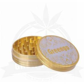 Greengo Alu-Grinder, 2-teilig, gold, 63mm