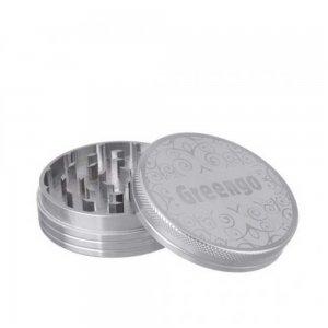Greengo Alu-Grinder, 2-teilig, silver, 40mm